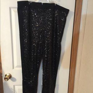 Asos Curve Black Sequin Front Pants 20.